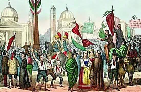 Rossetti_-_Proclamazione_della_Repubblica_Romana,_nel_1849,_in_Piazza_del_Popolo_-_1861