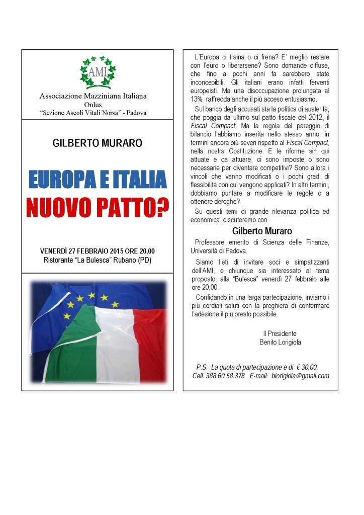 iNVITO EUROPA E ITALIA conviviale 27 farbbraio 2015