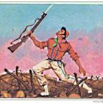Cartolina commemorativa raffigurante la morte di Lamberto Duranti il 5 gennaio 1915 - 1