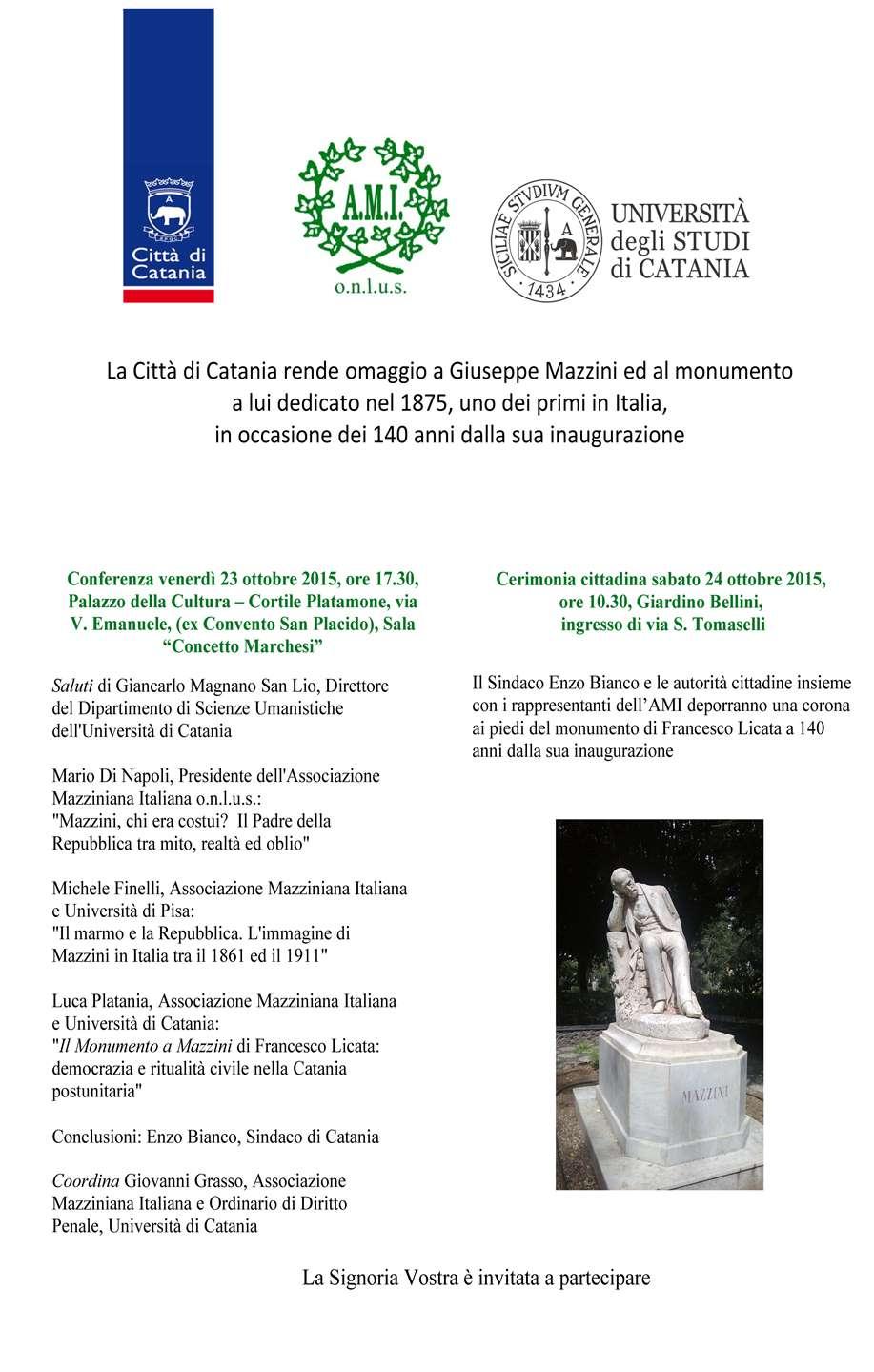 Invito 140 Monumento Mazzini CT