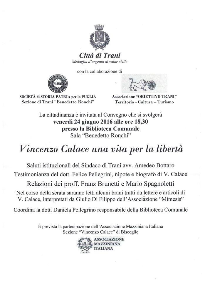 Vincenzo Calace una vita per la libertà