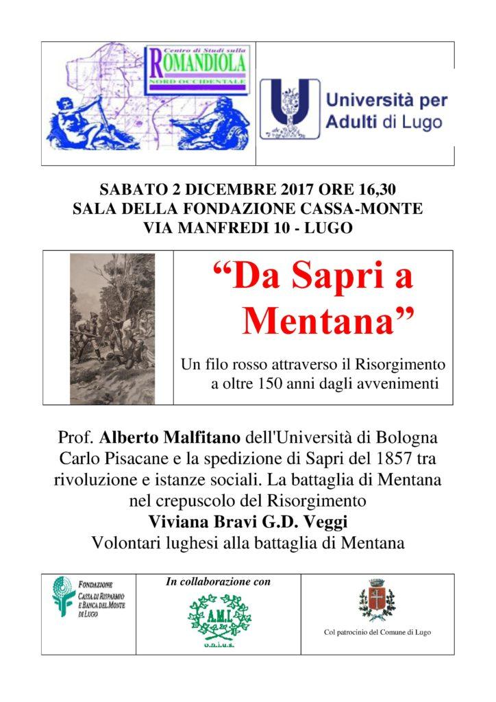 Conferenza Da Sapri a Mentana
