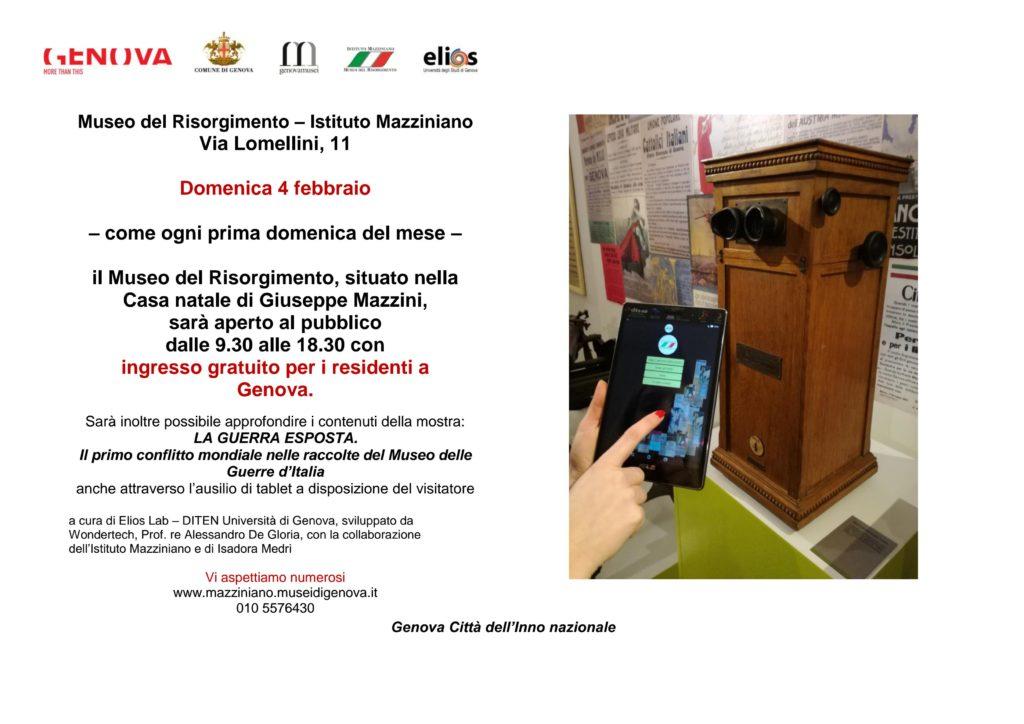 INVITO domenica 4 febbraio 2018 Museo del Risorgimento_1