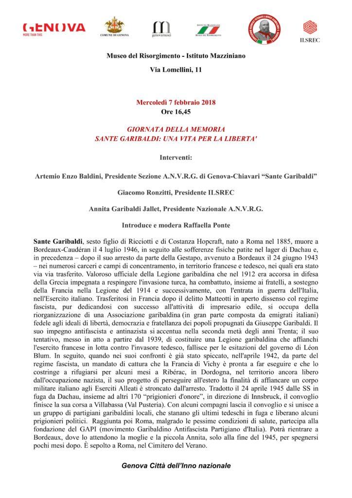 invito 7 febbraio 2018 SANTE GARIBALDI UNA VITA PER LA LIBERTA'_1