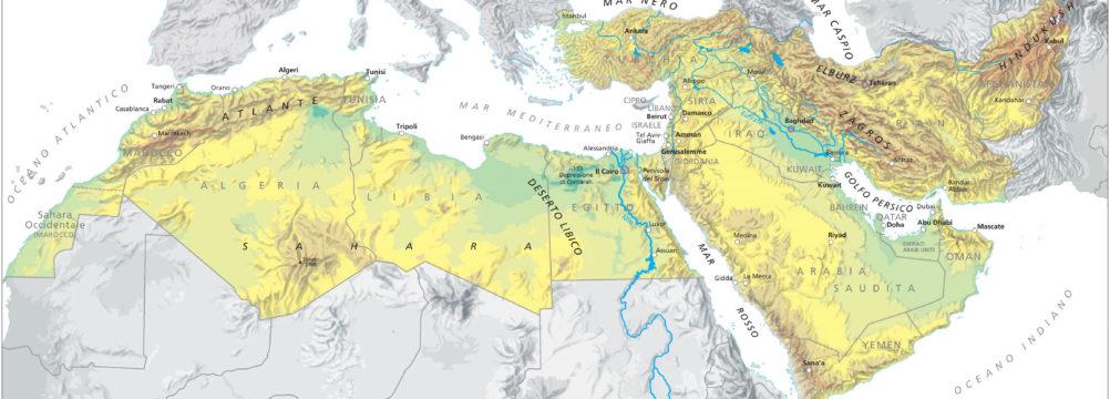 Cartina Europa E Medio Oriente.L Europa Davanti Alla Crisi In Medio Oriente E Nordafrica Ami Associazione Mazziniana Italiana